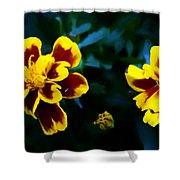 Marigold In Living Color Shower Curtain