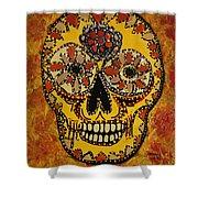 Marigold Skull Shower Curtain