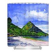 Marigot Bay St Lucia Shower Curtain