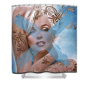 Marilyn 127 Tryp Shower Curtain by Theo Danella