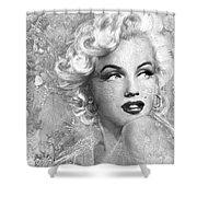 Marilyn Danella Ice Bw Shower Curtain