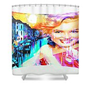Marilyn In Italy Shower Curtain