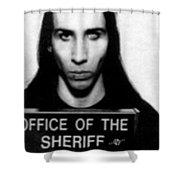 Marilyn Manson Mug Shot Vertical Shower Curtain