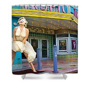 Marilyn Monroe In Front Of Tropic Theatre In Key West Shower Curtain