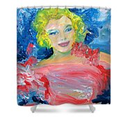 Marilyn Monroe In Pink And Blue Shower Curtain