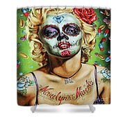 Marilyn Monroe Jfk Day Of The Dead  Shower Curtain