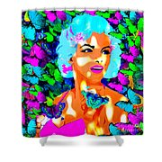 Marilyn Monroe Light And Butterflies Shower Curtain