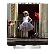 Marilyn Monroe Lookalike Shower Curtain