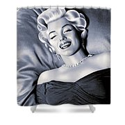 Marilyn Monroe Drawing Shower Curtain
