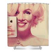 Marilyn Monroe Selfie 1 Shower Curtain