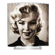 Marilyn Monroe, Vintage Actress Shower Curtain