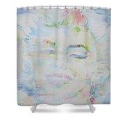 Marilyn Monroe - Watercolor Portrait.13 Shower Curtain