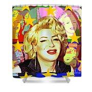 Marilyn Superstar Pop Shower Curtain