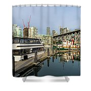 Marina At Granville Island In Vancouver Bc Shower Curtain