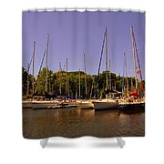 Marina At Lake Murray S C Shower Curtain