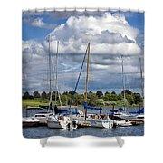 Marina - Branched Oak Lake Shower Curtain