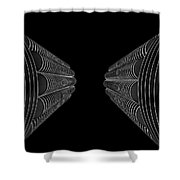 Marina City In Darkness Shower Curtain