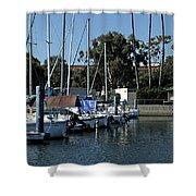 Marina Del Rey California 2 Shower Curtain