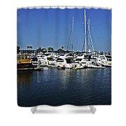 Marina Del Rey California Shower Curtain