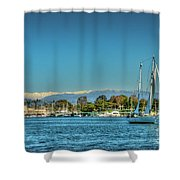 Marina Del Rey Channel Shower Curtain