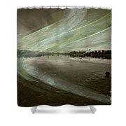 Marina Fractal Shower Curtain