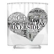 Marina Grande Heart Shower Curtain