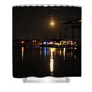 Marina Moon Shower Curtain