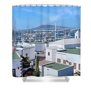 Marina Rubicon - Lanzarote Shower Curtain