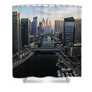 Marina Sunrise Shower Curtain