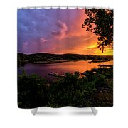 Marina Sunset Shower Curtain