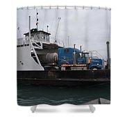 Marine City Mich Car Truck Ferry Shower Curtain