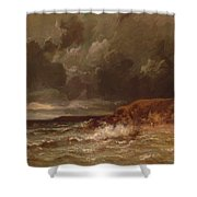Marine Landscape The Cape And Dunes Of Saint Quentin 1870 Shower Curtain