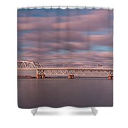 Marine Parkway Bridge Shower Curtain