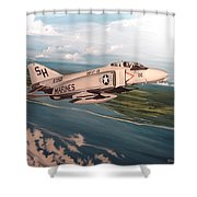 Marine Phantom Shower Curtain