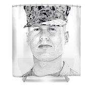 Marine Sgt Joseph Fankhauser  Shower Curtain