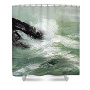 Marine Storm Sea 1911 Shower Curtain