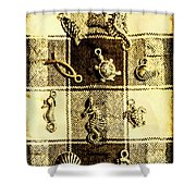 Marine Theme Shower Curtain