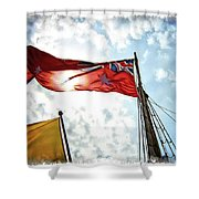 Mariners Flag Shower Curtain