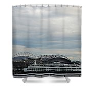 Mariners Seahawks And Ferry Shower Curtain