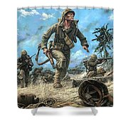 Marines In The Pacific Shower Curtain