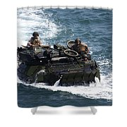 Marines Operate An Amphibious Assault Shower Curtain