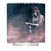 Marinette - Mysterious Woman In Venetian Mask Shower Curtain