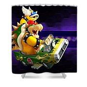 Mario Kart Wii Shower Curtain