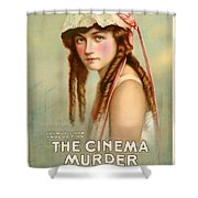Marion Davies In The Cinema Murder 1919 Shower Curtain