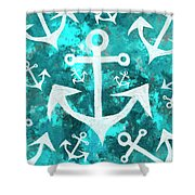 Maritime Anchor Art Shower Curtain by Jorgo Photography - Wall Art Gallery
