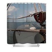 Maritime Bridge View Shower Curtain