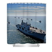 Maritime Forces From 17 Nations Shower Curtain