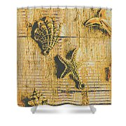 Maritime Sea Scroll Shower Curtain