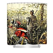 Marius Discovered In The Marshes At Minturn Shower Curtain