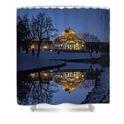 Marjorie Mcneely Conservatory At Dusk Shower Curtain